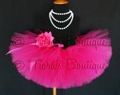 "Pink Tutu - Sewn Tutu - Hot Pink Tutu - Ready to Ship - Fabulous Fuchsia - 6"" Girls Tutu - sizes Newborn to 12 months. $26.00, via Etsy."