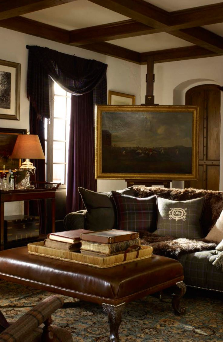 LIVING ROOM FAMILY Ralph Lauren Homes Brookfield Collection Is Traditional Home Decor Freshly Translated Into A Time Honored Thoroughbred Estate