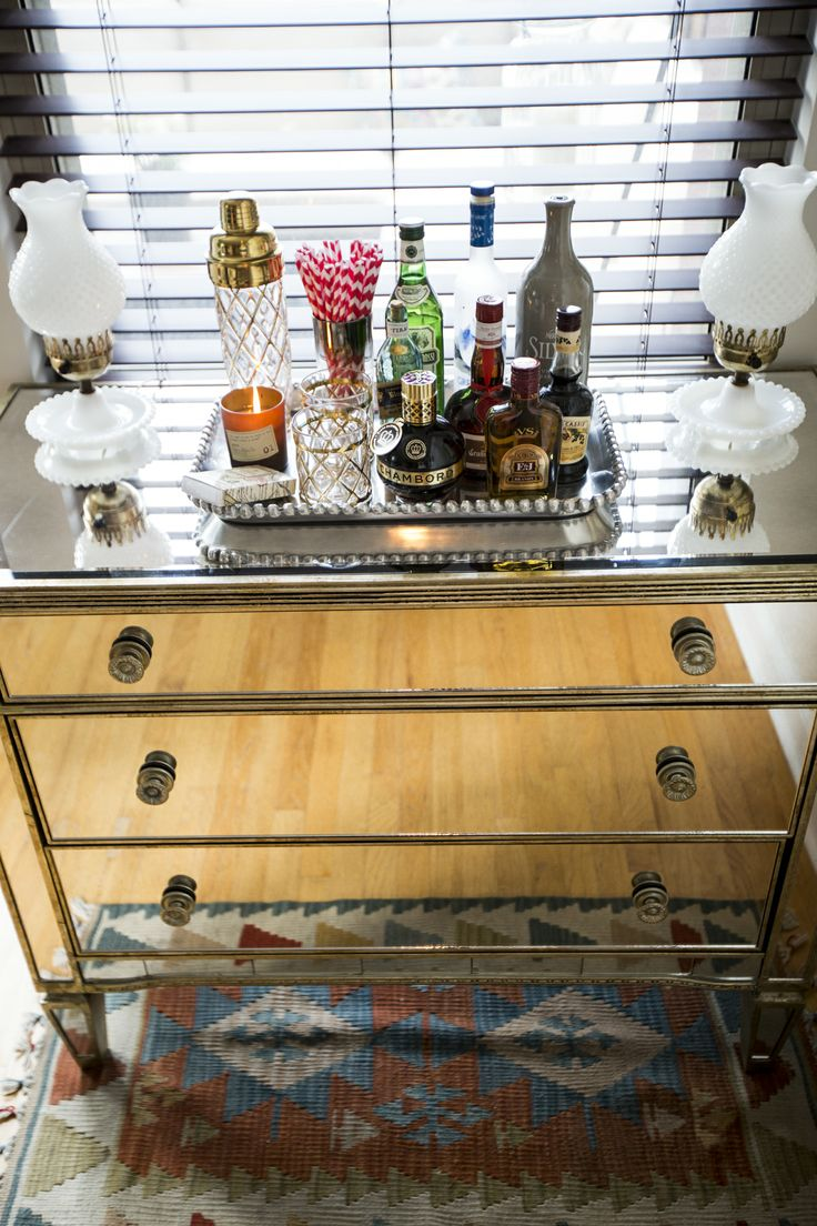 best mini bars honor bars help yourselves images on pinterest  - allison house  host used our borghese mirrored  drawer chest as her homebar