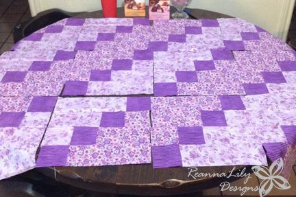 Strip-Pieced Diagonal Quilt | Free Pattern | ReannaLily Designs