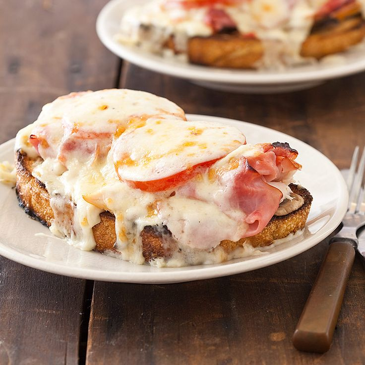 ... open faced sandwich tomato and melted cheese open faced sandwich
