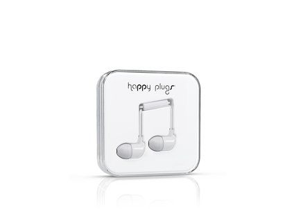 "Bílá sluchátka do uší ""špunty"" Happy Plugs"