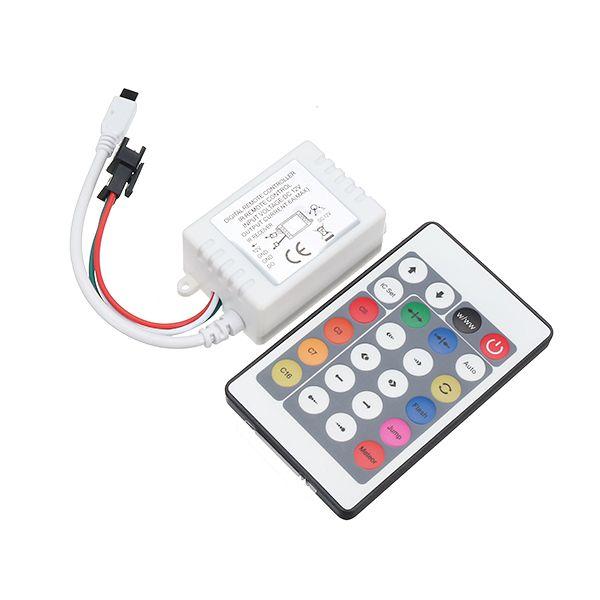 24 Key Led Rgb Ir 1000 Pixels Remote Controller For Ws2812b Ws2811 Strip Light Module Lamp Dc12v Led Strip From Lights Lighting On Banggood Com Strip Lighting Led Remote