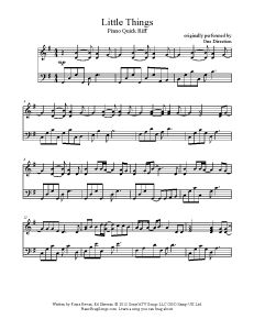 Little Things - One Direction. Find more free sheet music at www.PianoBragSongs.com.