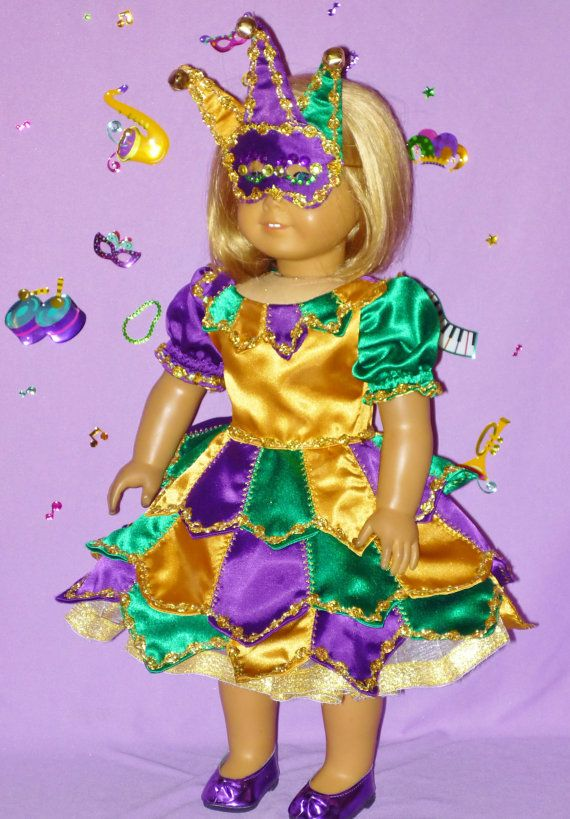 American Girl Doll Mardi Gras Costume by CsbsewsDollClothes