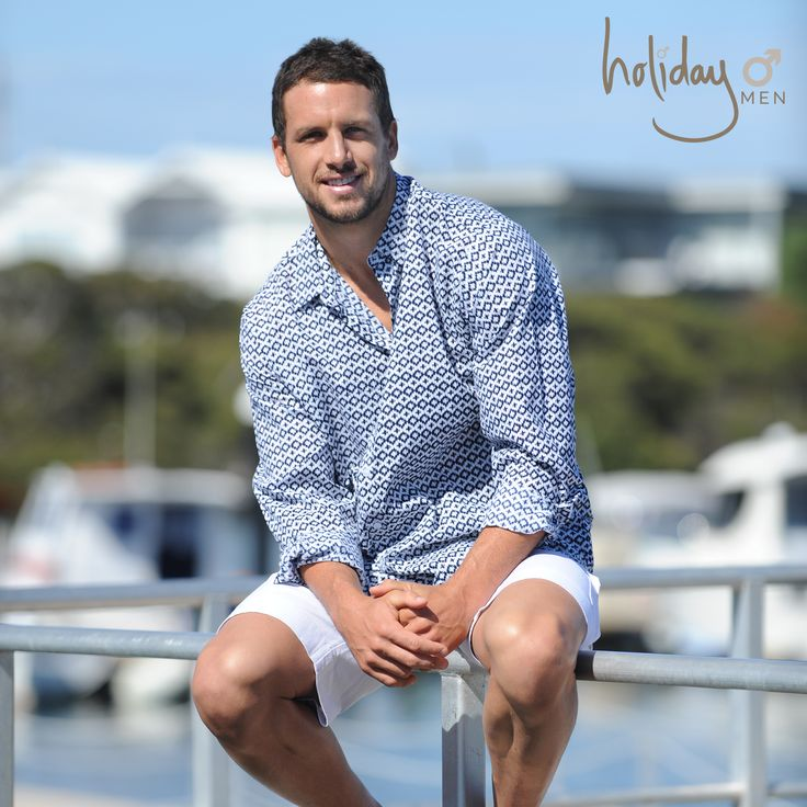 Just in case you missed our last post... we'd like to introduce to you the new face for our Holiday Mens 2015 Collection, Travis Boak - Port Power Captain, AFL Legend and all round nice guy!  Maui Shirt and Linen Shorts from Holiday Men, available September 2015 // Modelled by Travis Boak // Photography by Joanna Fincham  #holidaymens #travisboak #menswear