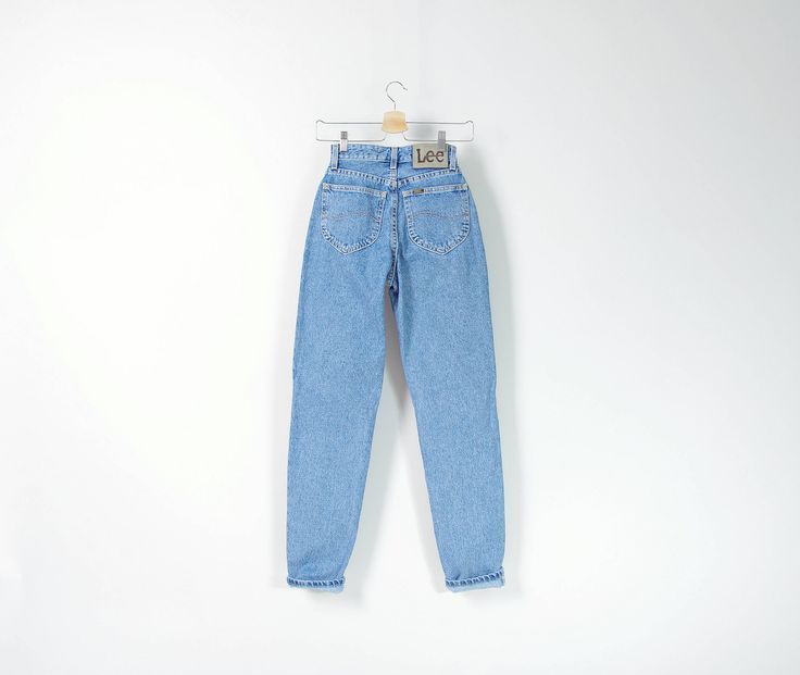 #80s #LEE high waisted tapered legs #perfect blue #denim #jeans  http://etsy.me/2D2FjM2 #vintage #etsy #streetwear #streetstyle #oldschool #vintagefashion #vintageclothes #vintagedenim #momjeans #hypebea #denimlover #womenswear