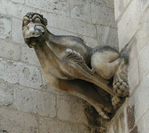 Cute gargoyle in France.