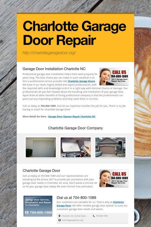 42 Best Charlotte Garage Door Repair Images On Pinterest Carriage