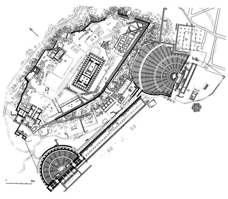 Афины. Акрополь. Генеральный план
