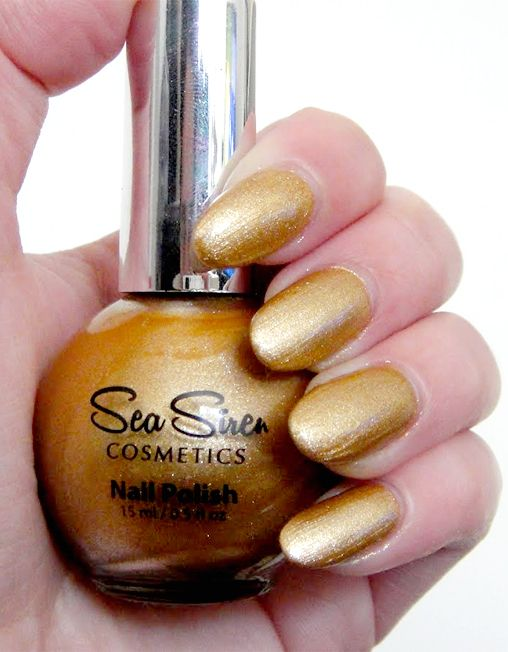 GOLDEN SANDS ~ Have you ever been to a beach where the sand is so fine it glistens in the sun? Exotic and enchanting! #seasiren #vegan #crueltyfree #nailpolish #nails #travel #cruise