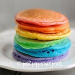 St. Patrick's Day Rainbow Pancakes - Pink Peppermint Design