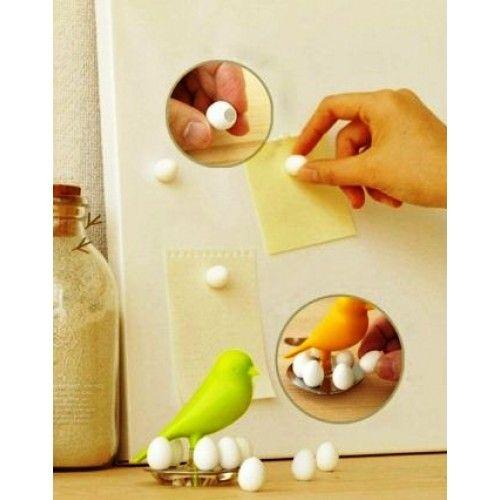 Fridge Magnets - Sparrow & Eggs Set - Green - Shop Online Now at www.lillyjack.com.au