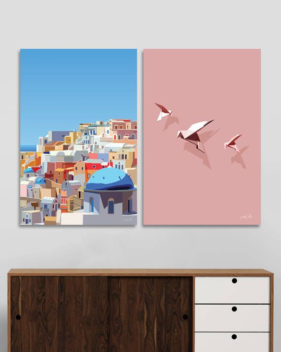 "Santorini printable wall art Greek islands print Oia Santorini USE THE CODE ""HUNKYDORY"" TO RECEIVE 30% OFF!"