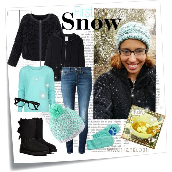 First Snow by hsama on Polyvore featuring Bench, AR SRPLS, Dondup, UGG Australia, Pistil, Cutler and Gross, J.Crew, Post-It, Winter and mermaid: