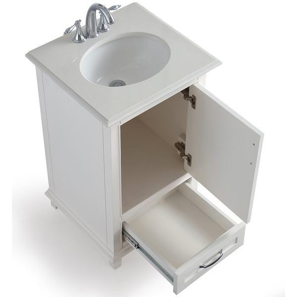 Ariana 20 Inch Bath Vanity With Bombay White Engineered Quartz Marble Top Vanity Simpli Home Bath Vanities