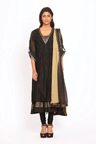 Ritu Kumar Women's Designer Chanderi Silk Suit – A2Z Smartstore.com