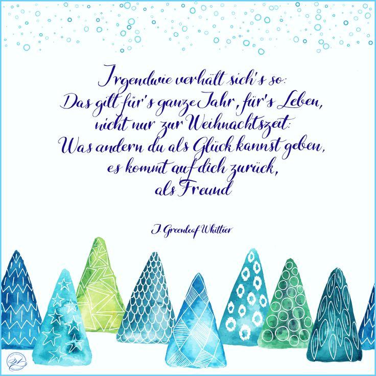 Christmas Greeting Card, Quote by J. Greenleaf Whittier / Weihnachtskarte mit Spruch von J. Greenleaf Whittier