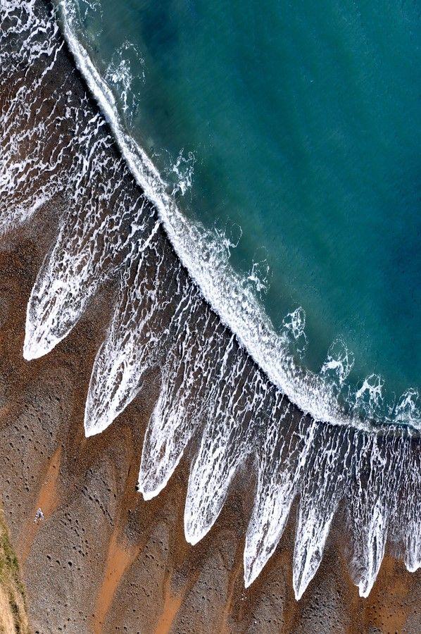 The Dorset coast England Reminds me of the sun.