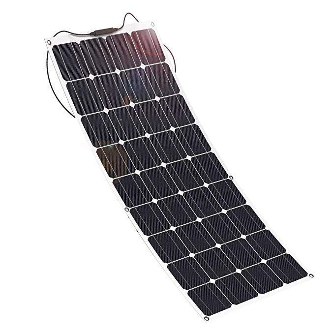 Giaride 18v 12v 100w Solar Panel High Efficiency Monocrystalline Cell With Mc4 Connectors Flexible Bendable Off Solar Panels Solar Panel Charger Rv Solar Power