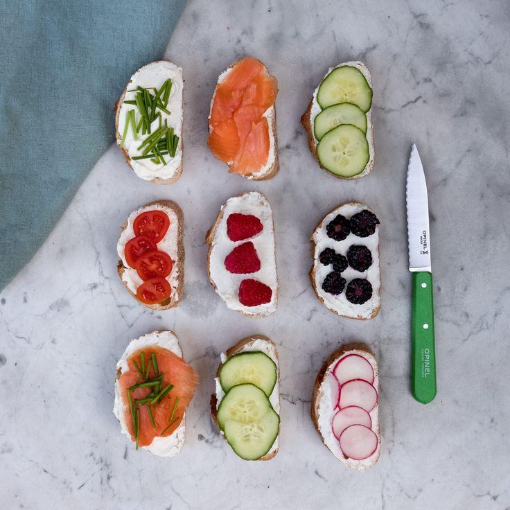 Farbenfrohe Messer, elegant und schlicht, so wir französisch Kochen zur Leidenschaft.