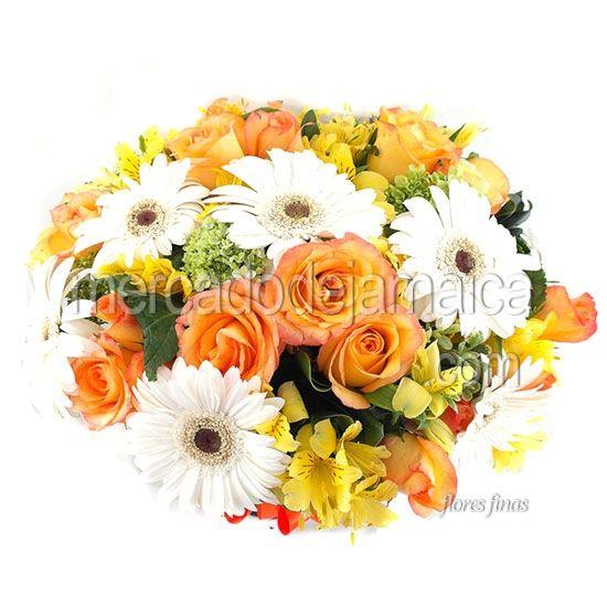 Arreglos Florales de Gerberas Blancas Irlanda Color !| Envia Flores