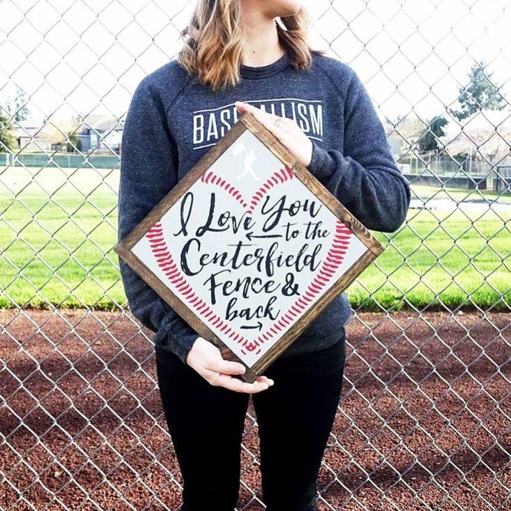 Cute baseball wedding sign