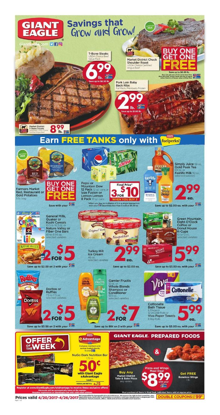 Giant Eagle Weekly Ad April 20 - 26, 2017 - http://www.olcatalog.com/grocery/giant-eagle-weekly-ad.html