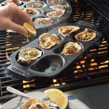 Sur La Table Cast Iron Oyster Grill Pan, 6 Cavity, available at #surlatable