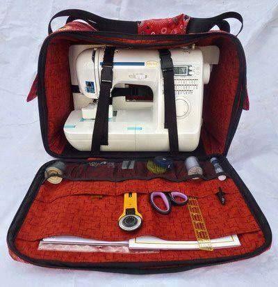 Capa de maquina de costura e acessorios/Bolsa/Mala para transporte de maquina de costura