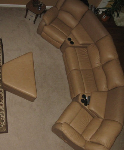 Palliser Leather Sectional   Home Theater Seating