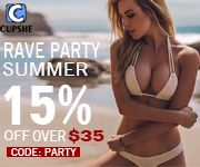 Summer Rave Party! 15% Off Over $35 Code:Party!