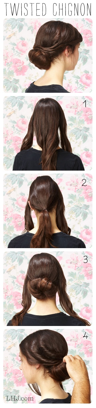 Hair How To: Twisted Chignon
