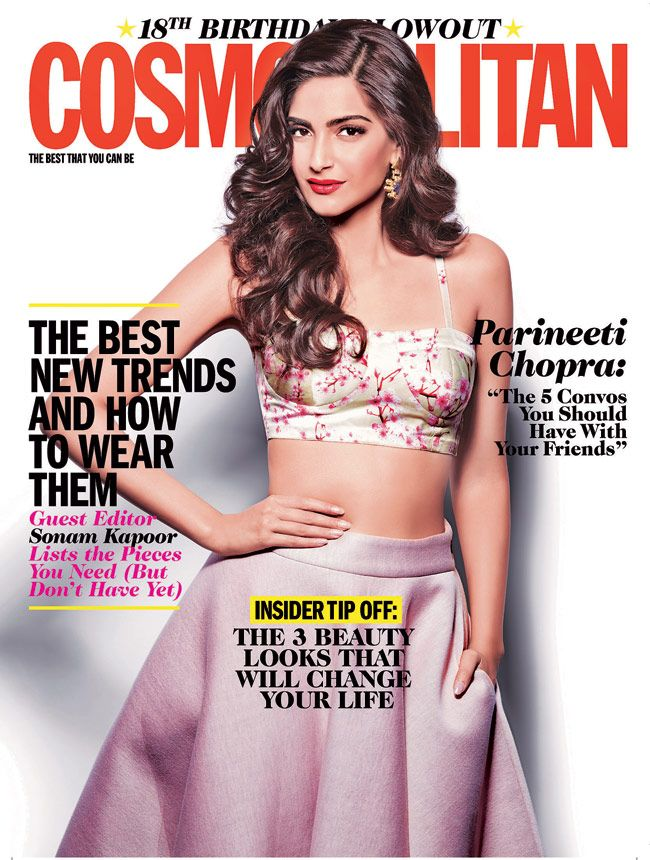 Cosmopolitan India turns 18: Cover girl Sonam Kapoor raises glam quotient.