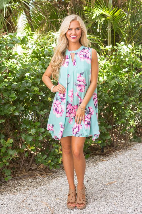 It's The Right Time Floral Dress - The Pink Lily