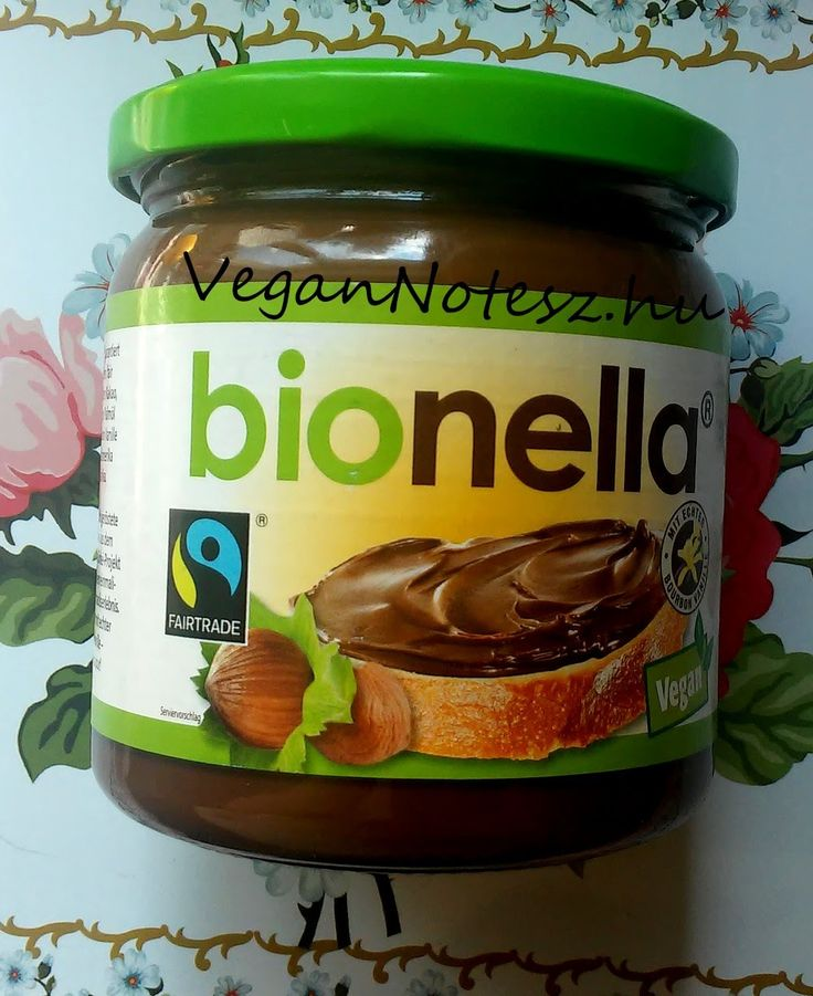 VeganNotesz.hu - vegán receptek, terméktesztek: Vegán, fairtrade, gluténmentes mogyorós csokikrém: Bionella mogyorós nugátkrém