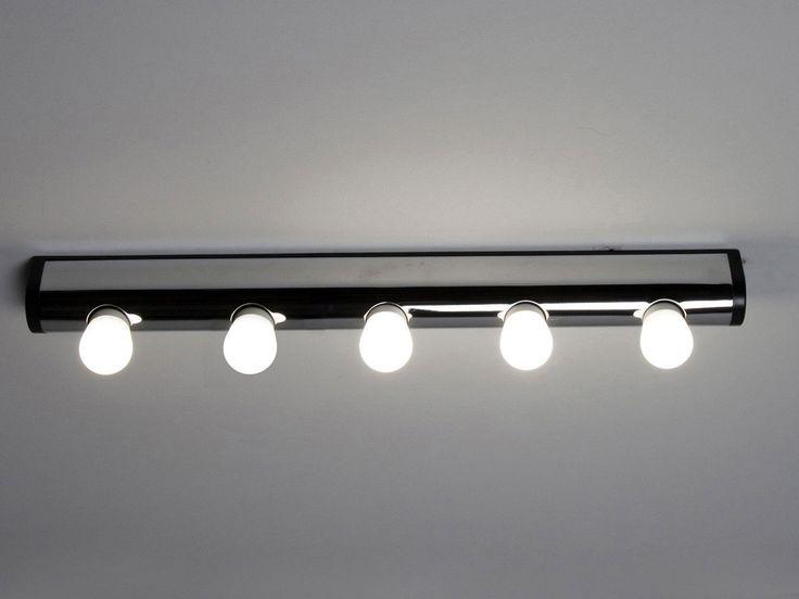 en métal Dimensions : longueur 60 cm, hauteur 6 cm, profondeur 3.6 cm IP20 classe I Fonctionne avec cinq ampoules E14 puissance max 11 watts non fournies