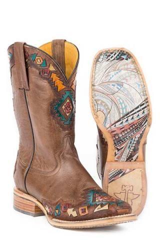 Tin Haul Sunka Wakan Native Horse Sole Boots Urban