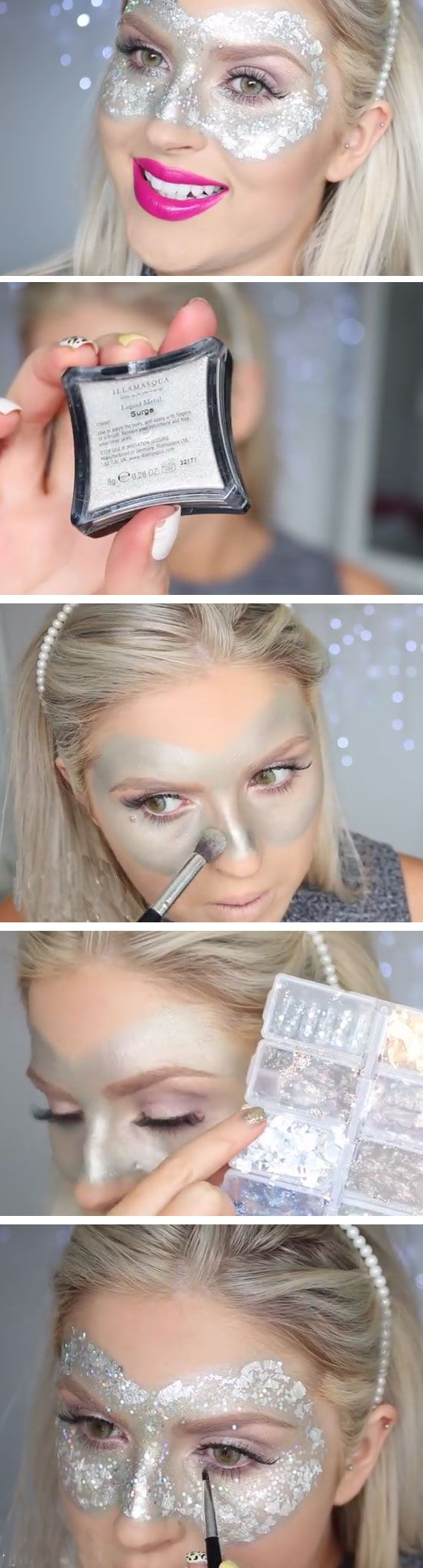 Glitter Eye Mask | Click Pic for 26 DIY Halloween Makeup Ideas for Women | DIY Halloween Dress Up Ideas for Adults