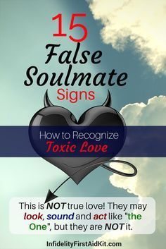 False soulmate or true soulmate? Can you tell the difference between true love and a false twin flame. Compare these signs to your current partner or past love. [Take Polls] and read list at https://www.infidelityfirstaidkit.com/15-false-soulmate-signs/