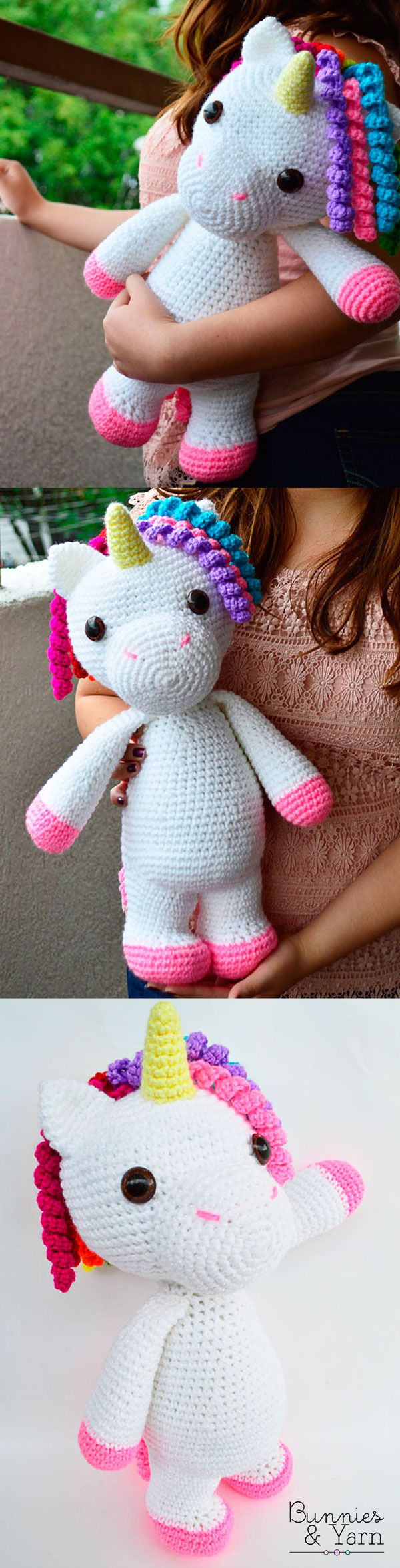 Crochet Pattern - Mimi the Friendly Unicorn - Amigurumi. This is perfect for unicorn lovers of all ages!