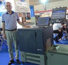 Konica Minolta bizhub PRESS C71hc, Yuji Nakata, Managing Director Konica Minolta India, bizhub PRESS C71hc, Rajasthan Photo Fair 2015, Konica Minolta, high-chroma technology