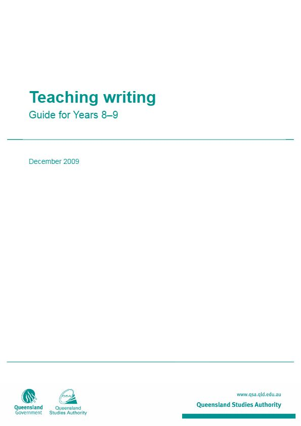 Teaching writing - Guide for Years 8-9