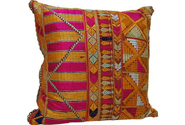 Indian Phulkari Pillow