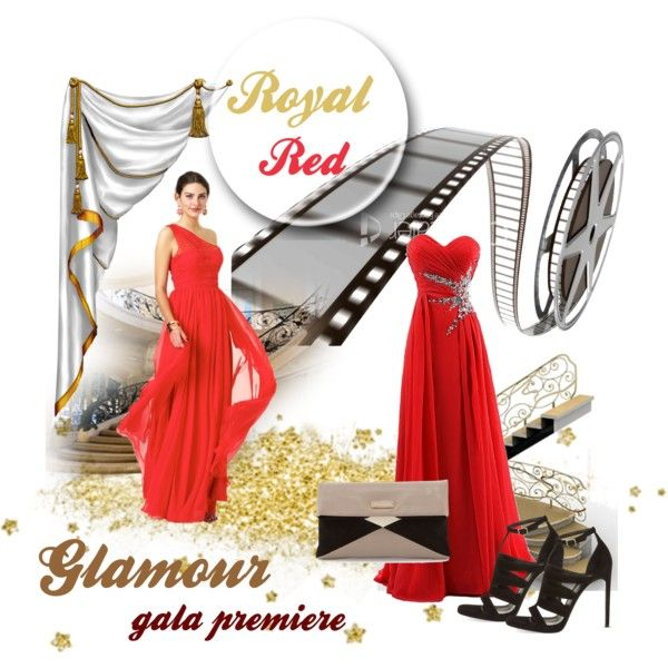 Glam Gala in Red by farka-id on Polyvore featuring Yves Saint Laurent and MARC BY MARC JACOBS
