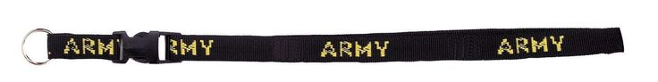 """Military Neck Strap Key Chain Rings - 32"""" Security Black Military Key Chains"""