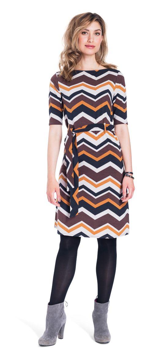 zig zag classy dress