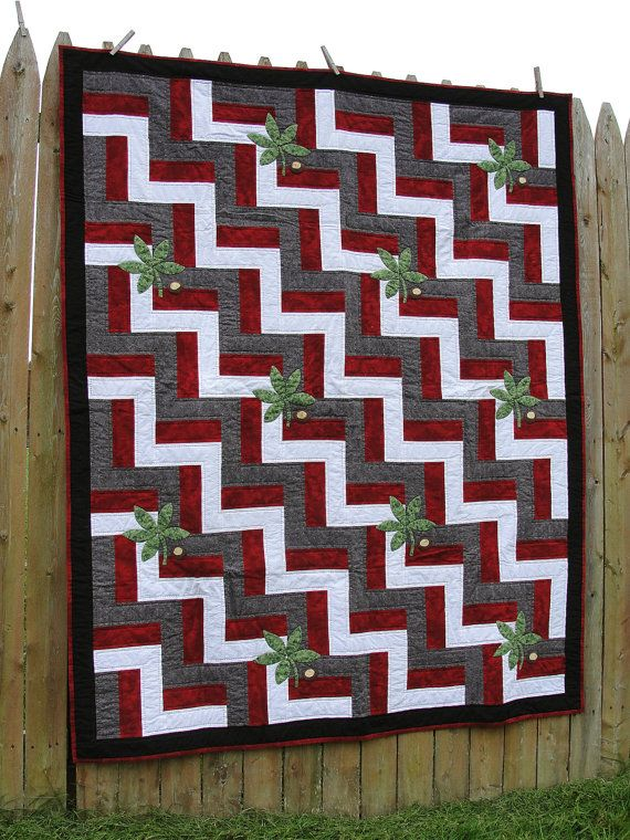 would leave the, i guess those are buckeyes, off and have myself a MISSISSIPPI STATE quilt....