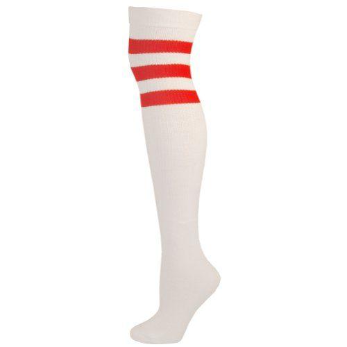 AJs Retro Over The Knee Tube Socks - White, Red-M AJs http://www.amazon.com/dp/B007XGE0ZK/ref=cm_sw_r_pi_dp_I4ggwb1KPNYAX