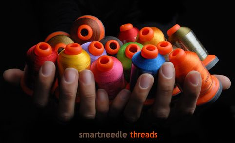 We have several colors of thread to choose from.